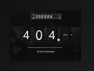 404-Error work dark ui design dribbble dri 008 dailyui