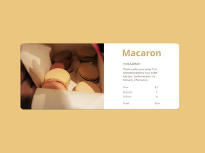 Daily UI-017 receipt email macaron logo branding yellow dark ui design 017 dailyui