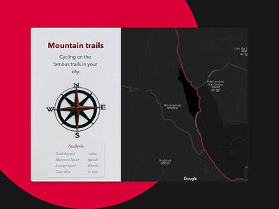 DailyUI-20 google maps trails cycling shots ui ux logo branding design dribbble tracker location 020 dailyui