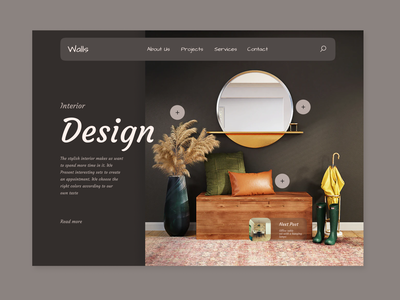 Daily-UI-24 024 display about designing interior home dashboard ui daily