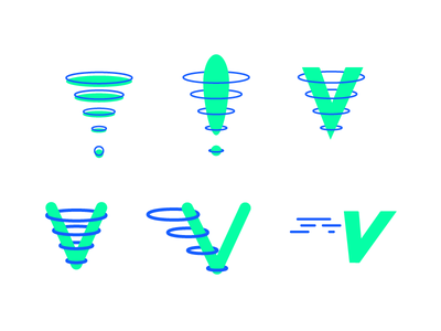 Verve! rings exclamation neon branding verve
