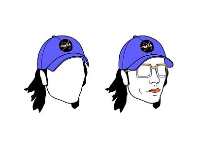 Space Shot headshot portrait nasa wip friends with hats