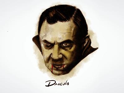 Dracula bela lugosi vincent sketch procreate price illustration horror