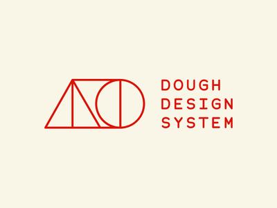 Dough Design System utilitarian branding system monospaced designsystems monospace bauhaus design system logo