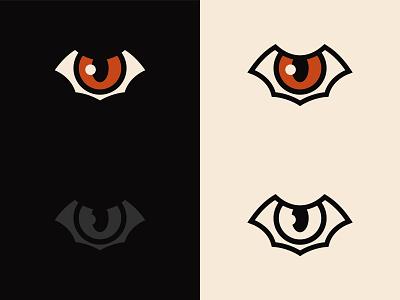 Wild Eye Logo Application wings flying eye eye bat icon logo