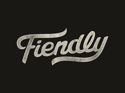 Fiendly Logo Revival handlettering black fiend fiendly lettering script logo