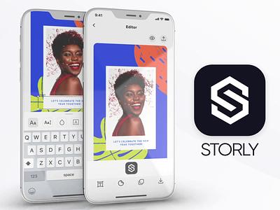 Storly App Design story app minimalist social media instagram story mobile app ui design ios phone telephone design app ui ux motion graphics graphic design