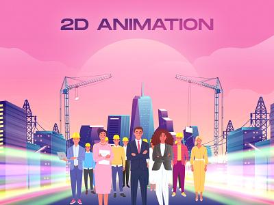2D Animation design creatvity render blender 3d graphics motion illustration digital art agency black studio production film 2d animation