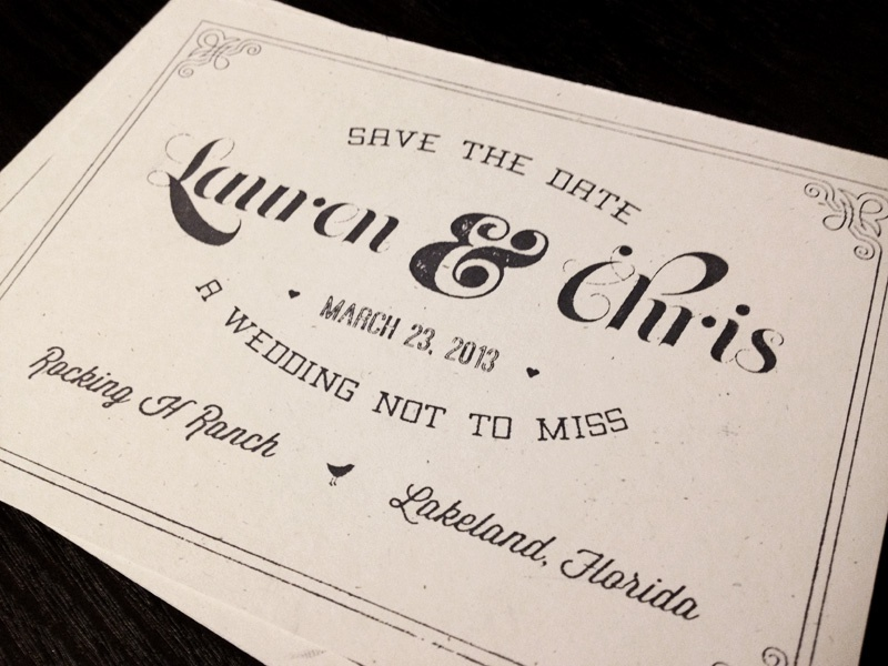 Save The Date wedding save the date stamp french paper ampersand vintage hand stamped typography invite
