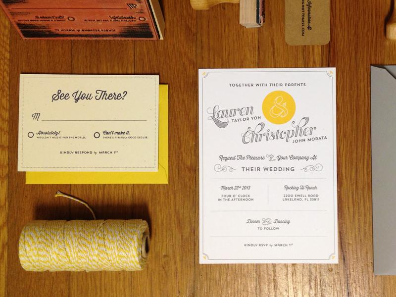 Wedding invite spread