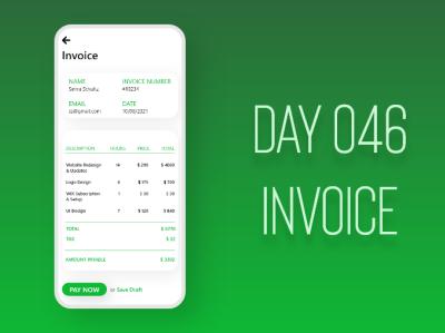 Invoice ui adobexd dailyuichallenge design dailyui
