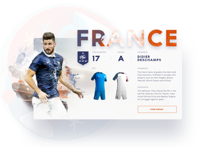 France team profile football ux ui vietnam sport euro