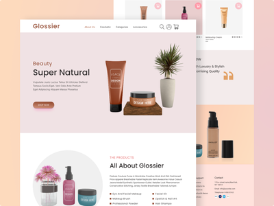 E-Commerce web page clean ui layout design colorful usatoday homepagedesign shopify skincare branding cosmetics fashion design webtrends interface ecommerce design beauty product girls uidesign