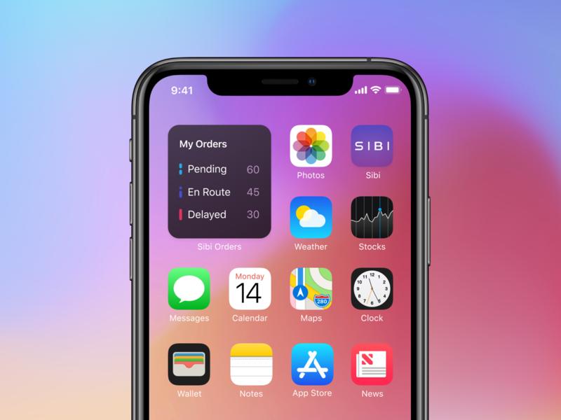 iOS 14 Sibi Orders Home screen Widget wwdc2020 wwdc widget mobile iphone ios14 ios home screen widget home screen apple icon app