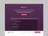 Lotus Ruby - Landing Page
