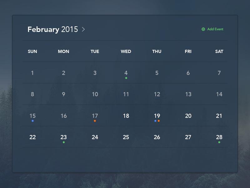 Freebie PSDs: Calendar psd free psd free calendar freebie psd calendar ui dark ui light ui free freebie clean minimal
