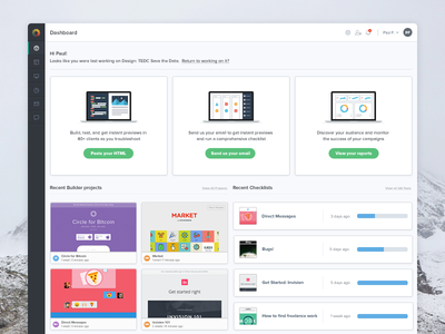 The new Litmus is here! app web litmus product interface admin panel dashboard ui ux