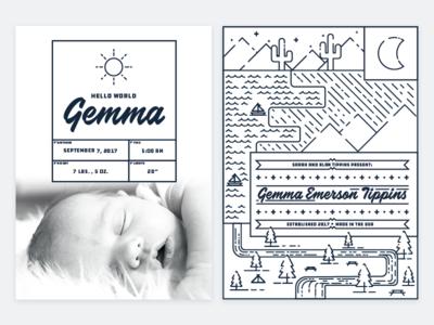 Gemma's Birth Announcement