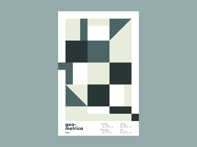 Geometrica - 12/23 poster a day patterns geometric art geometric shapes layout composition minimal abstract