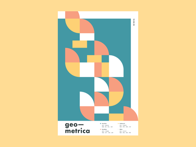 Geometrica - 12/24 illustration poster a day patterns layout geometric art geometric shapes color study minimal abstract