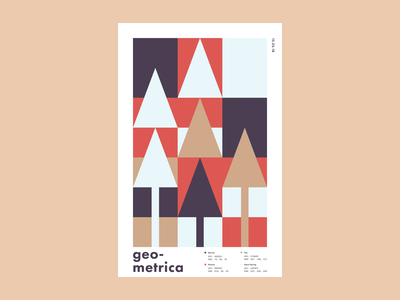 Geometrica - 12/25 poster a day patterns minimal layout illustration christmas geometric shapes geometric art color study abstract