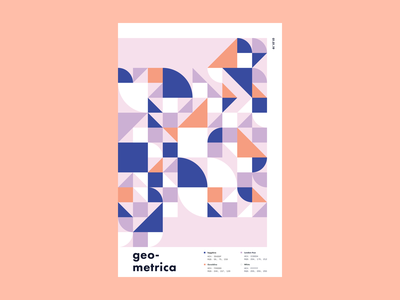 Geometrica - 1/1 patterns minimal poster a day layout illustration geometric shapes geometric art color study abstract