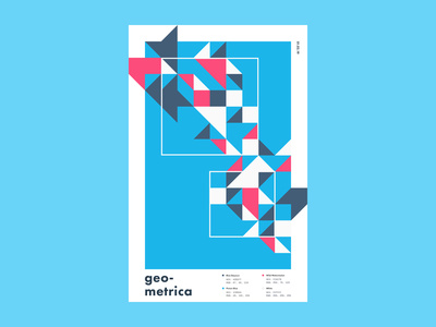 Geometrica - 1/2 poster a day patterns minimal layout illustration geometric shapes geometric art color study abstract