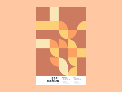 Geometrica - 1/3 poster a day patterns minimal layout illustration geometric shapes geometric art color study abstract