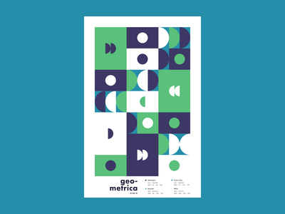 Geometrica - 1/4 poster a day patterns minimal layout geometric illustration geometric shapes geometric geometric art color study abstract