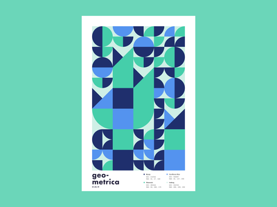 Geometrica - 1/5 poster a day patterns minimal layout geometric shapes geometric illustration geometric geometric art color study abstract