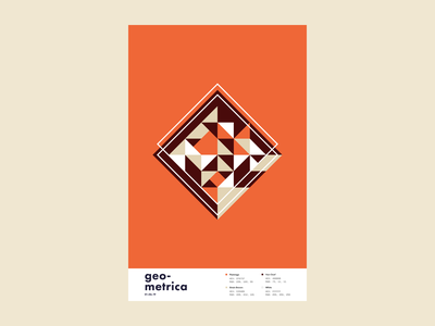 Geometrica - 1/6 poster a day poster every day patterns minimal layout geometric illustration geometric shapes geometric art geometric color study abstract