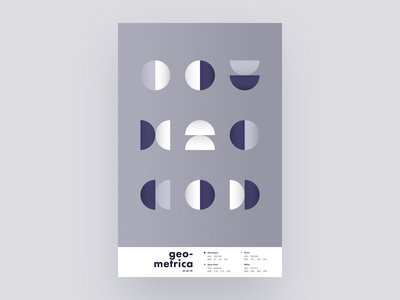 Geometrica - 1/7 poster every day poster a day patterns minimal layout geometric shapes geometric illustration geometric art geometric color study abstract