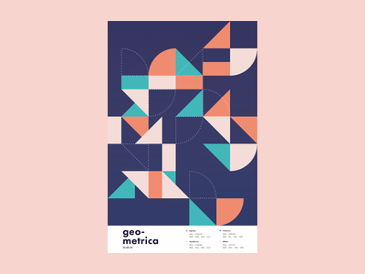 Geometrica - 1/9 geometric shape poster every day poster a day layout geometric shapes geometric art color study abstract