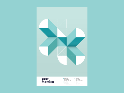 Geometrica - 1/10 poster every day geometric poster a day layout illustration geometric shapes geometric art color study abstract