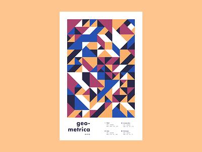 Geometrica - 1/11 geometric illustration poster every day poster a day layout illustration geometric shapes geometric art geometric abstract color study