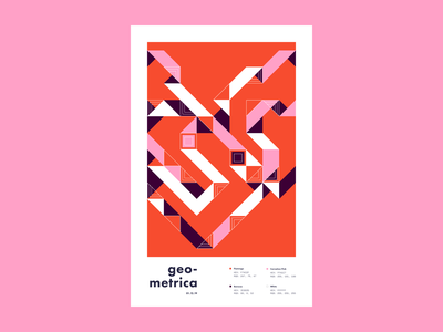 Geometrica - 1/12 poster every day illustration poster a day layout geometric shapes geometric illustration geometric art geometric color study abstract