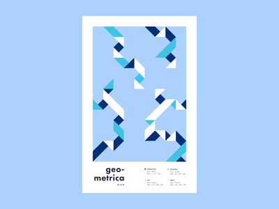 Geometrica - 1/13 poster every day poster illustration geometric geometric illustration color study poster a day layout geometric shapes geometric art abstract