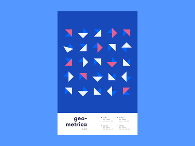 Geometrica - 1/14 poster every day poster a day poster layout illustration geometric shapes geometric illustration geometric art geometric color study abstract