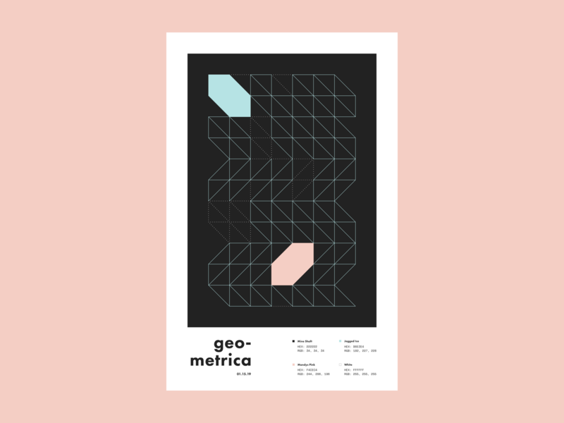 Geometrica - 1/15 poster every day poster a day layout illustration geometric shapes geometric illustration geometric art geometric color study abstract