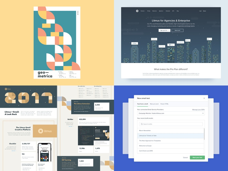 #Top4Shots on Dribbble from 2018 flat illustration design geometric litmus poster a day geometric shapes geometric art abstract ui