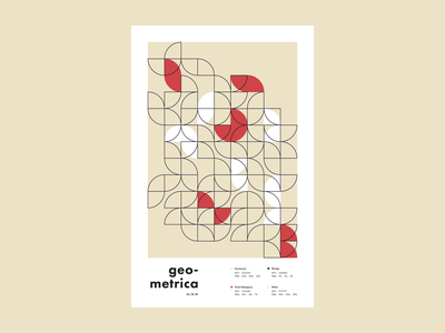 Geometrica - 1/19 poster every day poster a day layout illustration geometric shapes geometric illustration geometric art geometric color study abstract