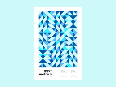 Geometrica - 1/21 poster every day poster a day layout illustration geometric shapes geometric illustration geometric art color study abstract