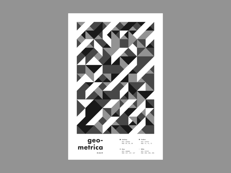 Geometrica - 1/25 geometric layout poster everyday poster a day geometric shapes geometric art color study abstract
