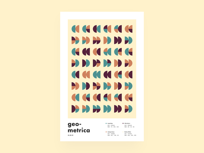 Geometrica - 1/29 poster every day geometric illustration geometric color study layout poster a day illustration geometric shapes geometric art abstract