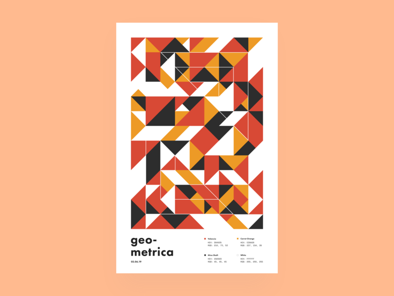 Geometrica - 2/6 poster every day geometric illustration geometric color study layout poster a day illustration geometric shapes geometric art abstract