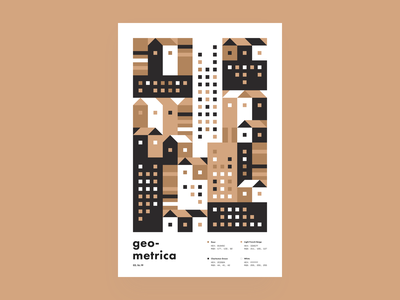 Geometrica - 2/16 geometric city cityscape poster every day geometric illustration geometric color study layout poster a day illustration geometric shapes geometric art abstract
