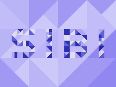Geometric letterforms - SIBI dribbbleweeklywarmup geometric illustration geometric illustration color study geometric art abstract geometric shapes