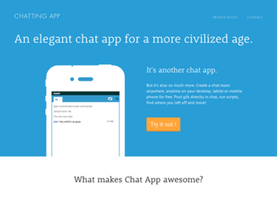 Chatting App Marketing Site