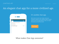 Chatting App Marketing Site