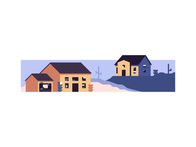 Arizona Homes Illustration #1 geometric geometric art layout sibi shadows isometric minimal house illustration home house illustration geometric shapes